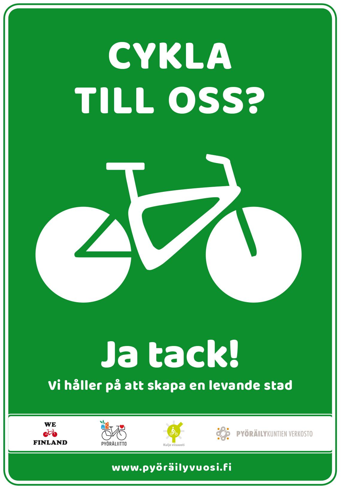 Kyllä pyörille SVE-tarraStad