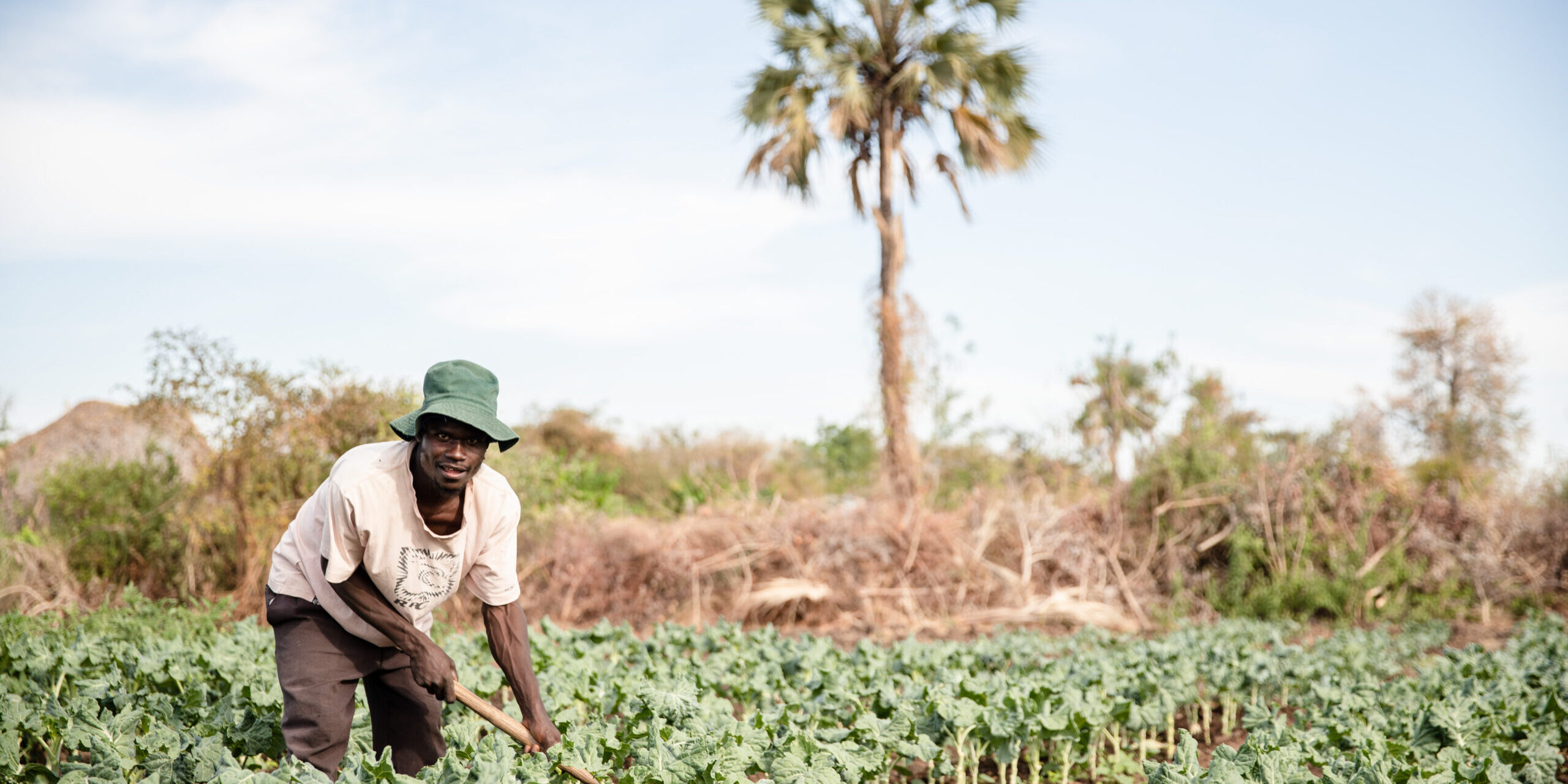 Volunteer of the Chiwenga water point. Two volunteers look after the place 24/7 and ensure that everything is working okay. They are allowed to cultivate vegetables in the area as a reward for their work. (Muzarabani district, Zimbabwe, 25.10.2018)